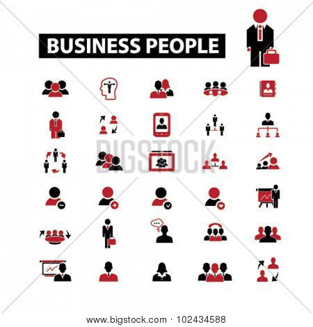 business people, businessman icons