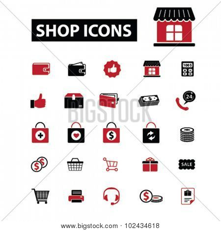 shop icons