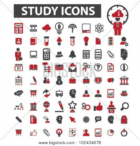education, study icons