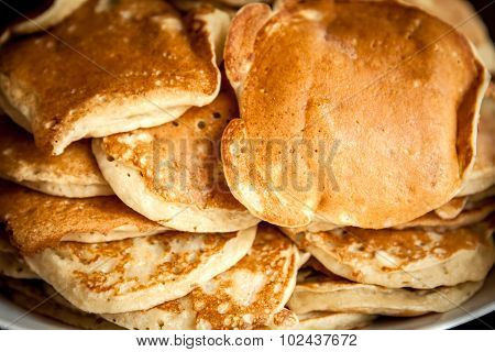 Pancakes as breakfast background