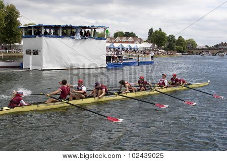 HENLEY, ENGLAND. 04-07-2010.   Harvard University, USA winners of The Ladies Challenge Plate on day 5 of the Henley Royal Regatta 2010 held on the River Thames.