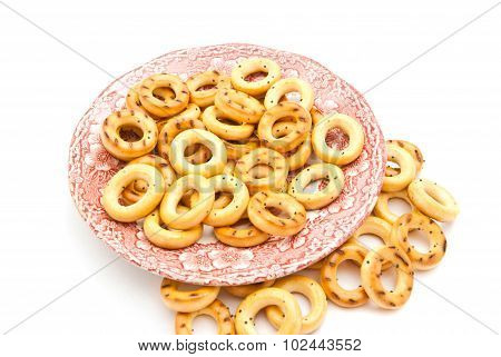 Bagels On Pink Dish