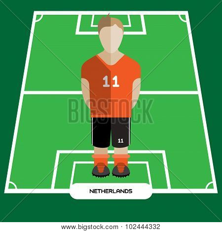 Computer Game Netherlands Football Club Player