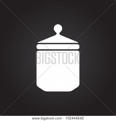 Vector kitchen bottle template