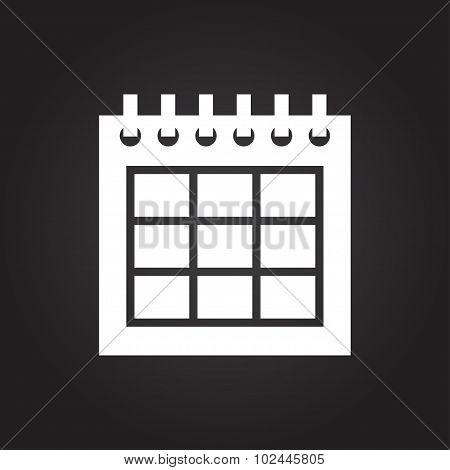 Vector calendar icon. Epsflat white0