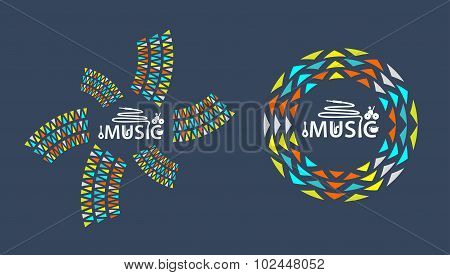 Music Logo With Icon