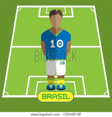 Computer Game Brasil Football Club Player