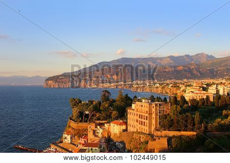 Sunset In Sorrento Italy