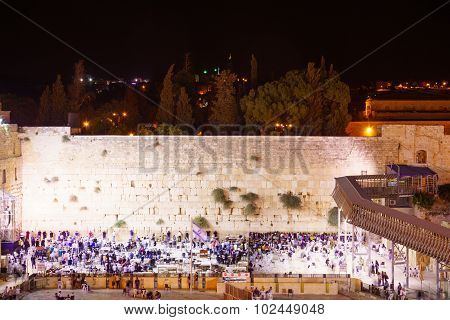Selichot (jewish Penitential Prays) In The Western Wall