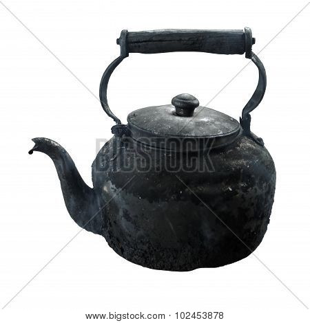 Sooty Old Teapot