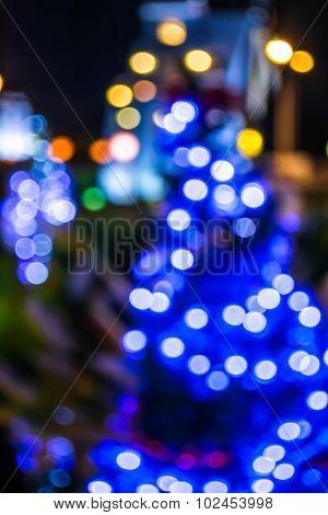 Blurred Bokeh Background With Warm Orange Lights (blurred)