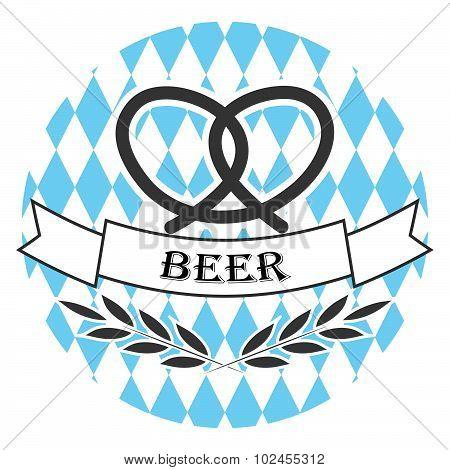 Beer oktoberfest line logo badge
