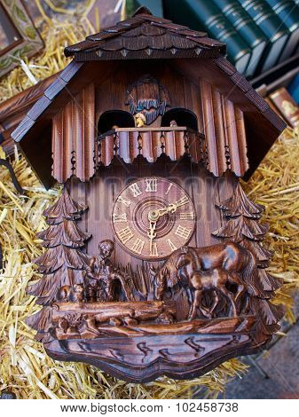 Famous Cuckoo Clock From The Black Forest  Germany