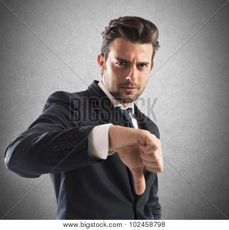 Negative mood businessman
