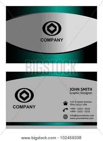 Vector business card templates set