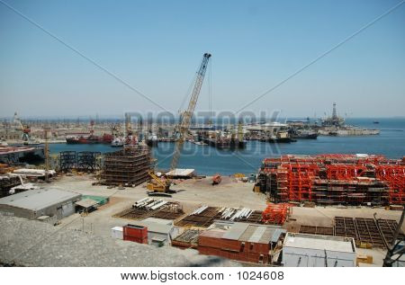 Industrial Port With Cranes And Hardware - Baku, Azerbaijan