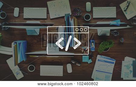 Programing Coding Script Technology Website Program Concept