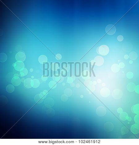 Blue Lights Festive Background.