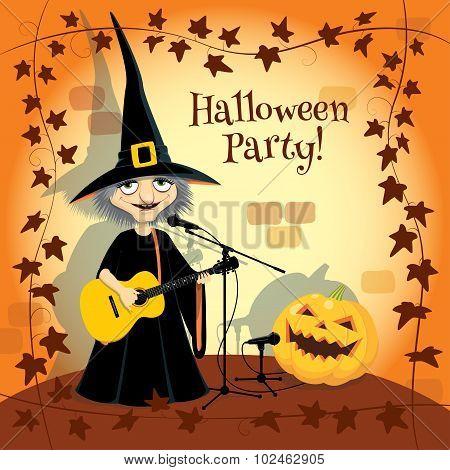 Halloween concert, party invitation