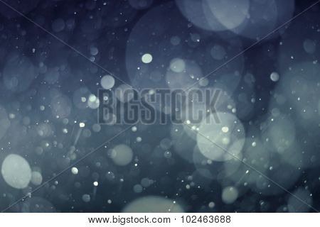 Blue Shiny Bokeh Background