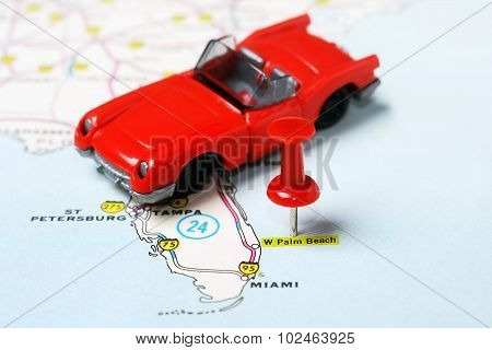 Palm Beach  Usa Map Auto