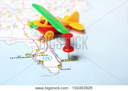 Palm Beach  Usa Map Flight