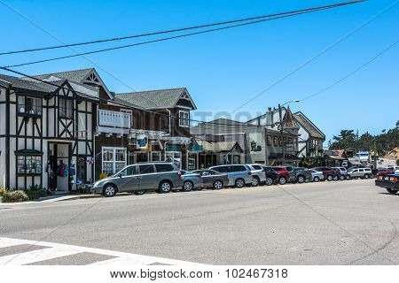 The main street in Cambria, California