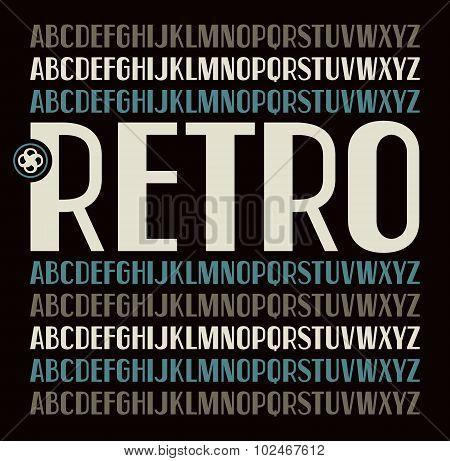 Sans Serif Font In Retro Style