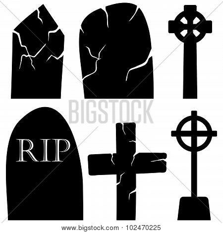 Grave Stones Set