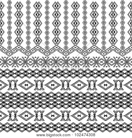Ethnic Tribal Pattern With Geometric Ornaments