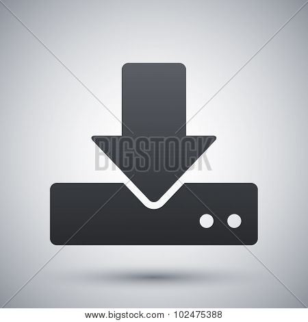 Vector Download To Hdd Icon