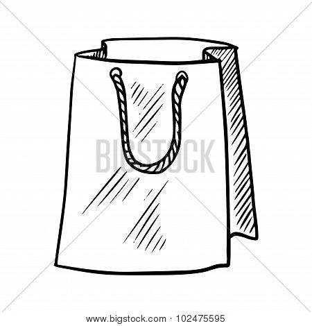 Sketch of paper shopping bag