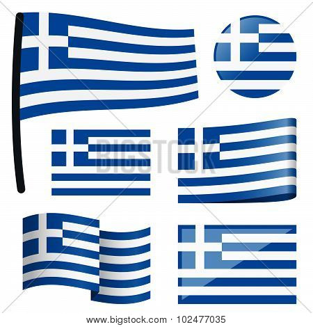 Collection Flags Greece