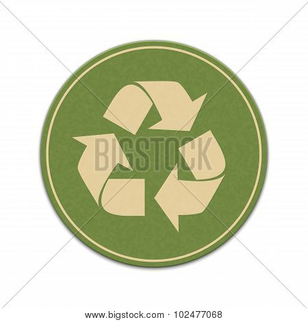 Paper Recycle Sticker Isolated On A White Background