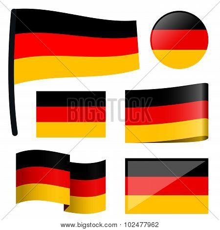 Collection Flags Germany