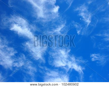 Only The Blue Sky With Cirrus Clouds