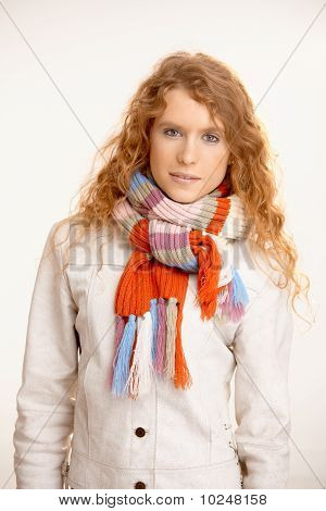 Attractive Female Dressed Up Warm
