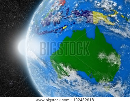Australian Continent From Space
