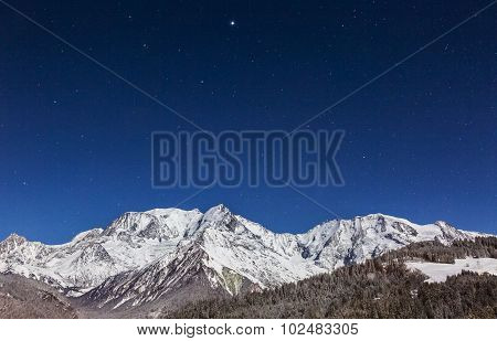 Mont Blanc By Night