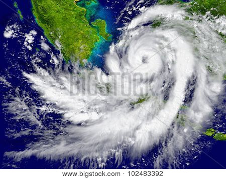 Hurricane Over Southeast Asia