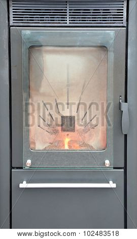 Wood-burning Stove To Heat House In Winter