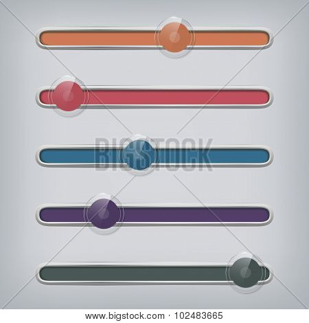 Set Of Modern Web Sliders - Rollovers