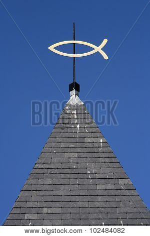 Steeple With Ichthus