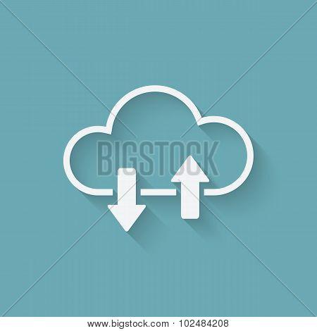 Cloud Download And Upload Concept Symbol