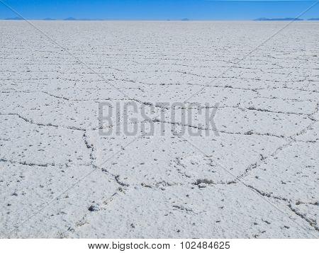 Endless white salt plain