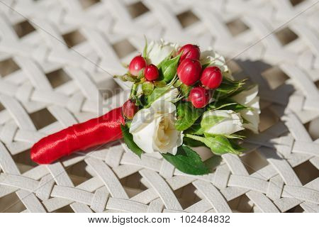 Beautiful Wedding Boutonniere From Rose