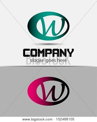 Letter W logo Icons Set Vector