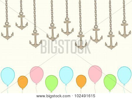 Anchors on chains and balloons