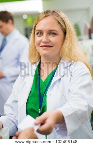 Saleswoman In Chemists