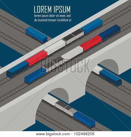 Flat vector banners set of logistic process
